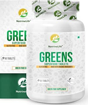 NutrineLife Greens Superfood Tablets for Men and Women