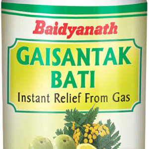 Baidyanath Gaisantak Bati – Instant Relief from Gas and Indigestion – 100 Tablets (Pack of 2)
