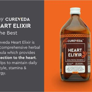 Cureveda� Herbal Heart Elixir (Arjuna, Manuka, Kamalphool) Heart Health 450ml Syrup